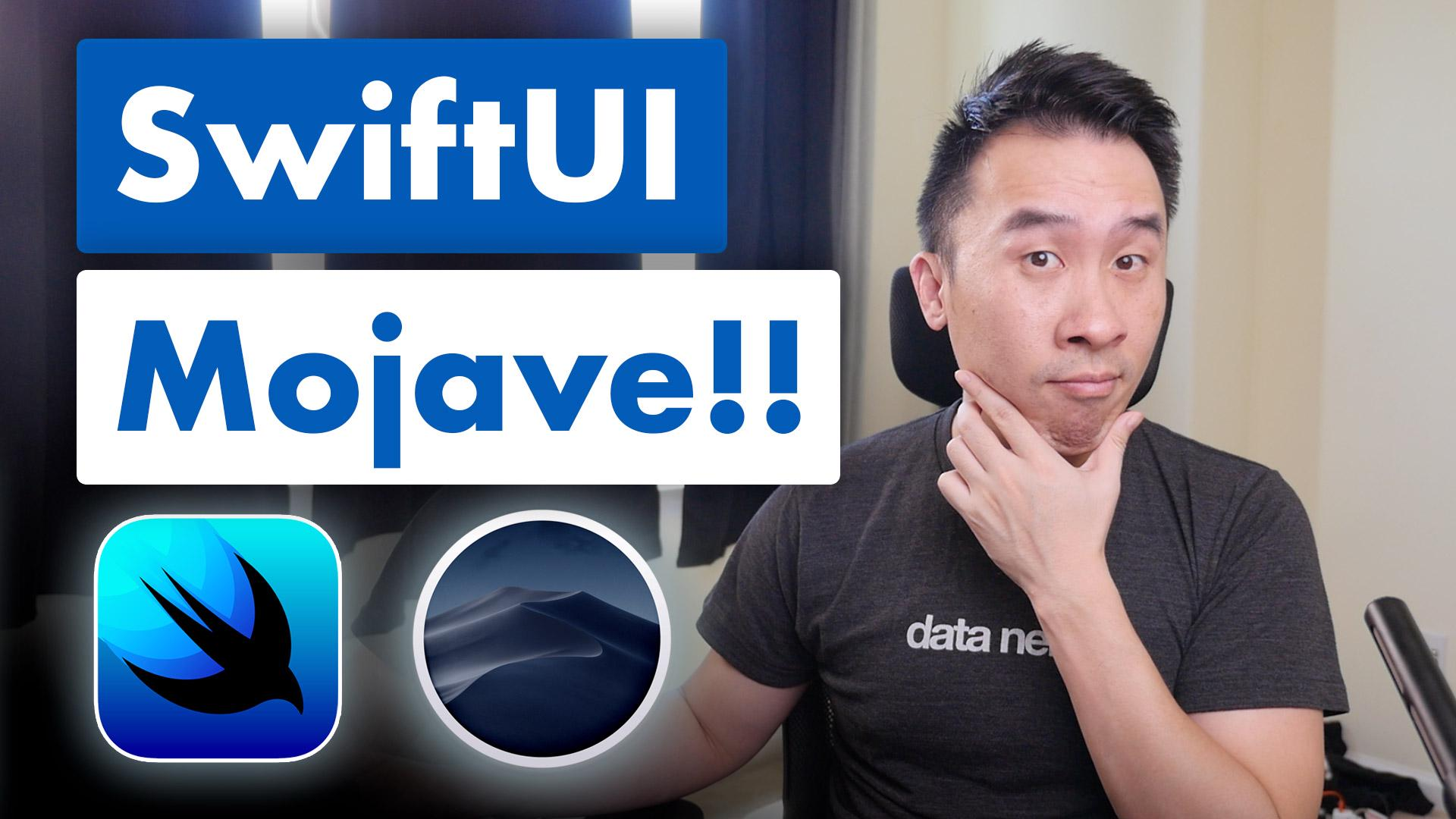 How to Run SwiftUI on Mojave with Playgrounds and Sample Code | Lets