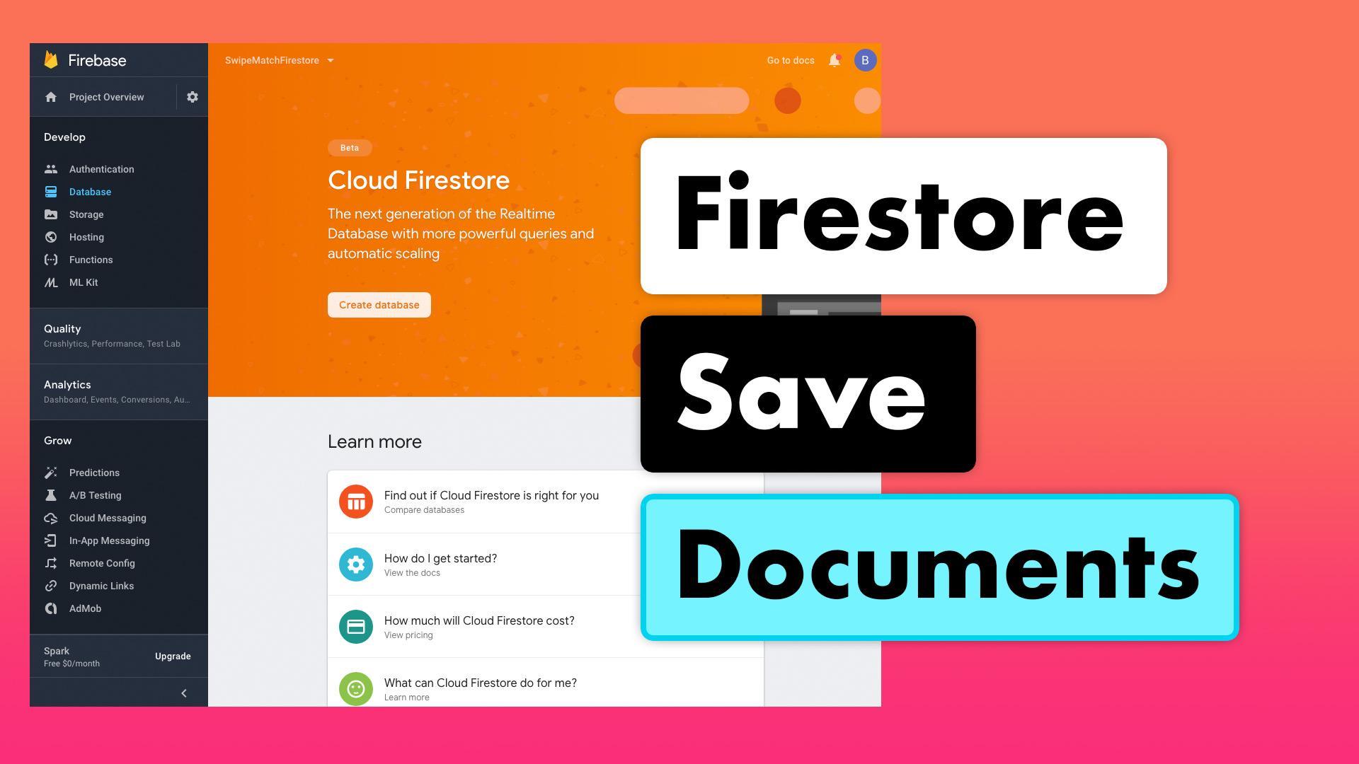 Tinder Firestore MVVM 20 - Firestore Save Documents | Lets Build