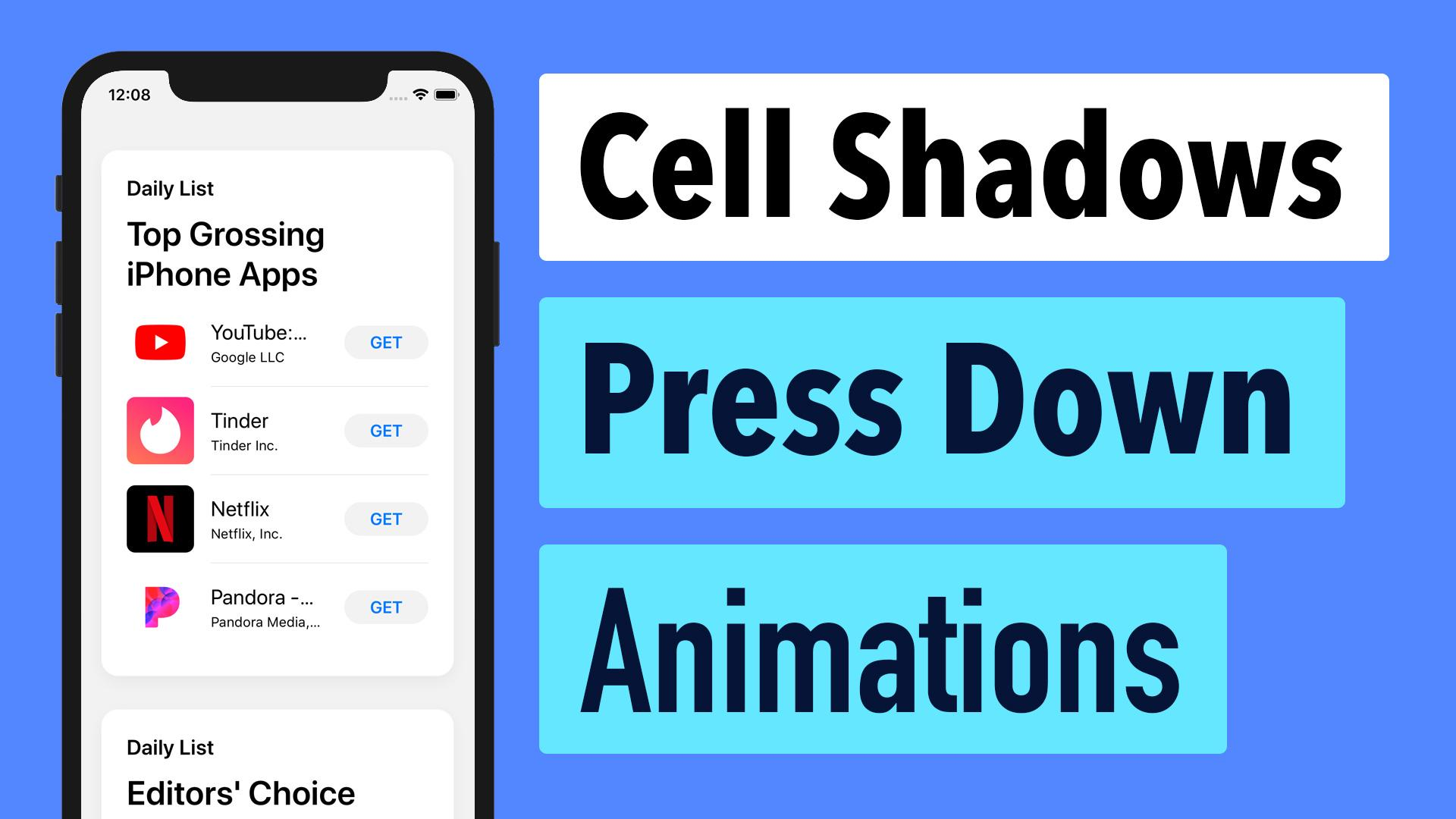 AppStore 39 - Cell Shadows and Press Down Animations | Lets